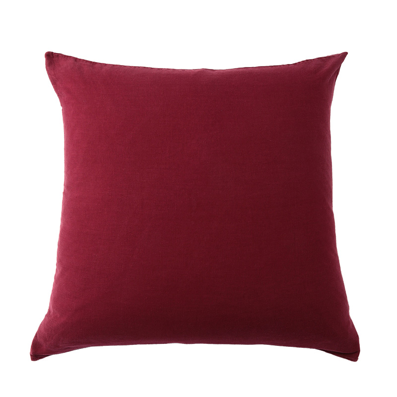 LINEN CUSHION COVER BERRY
