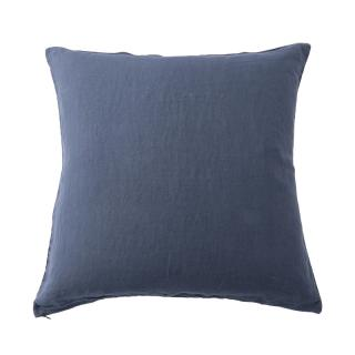 LINEN CUSHION COVER MEDITERRANEAN BLUE