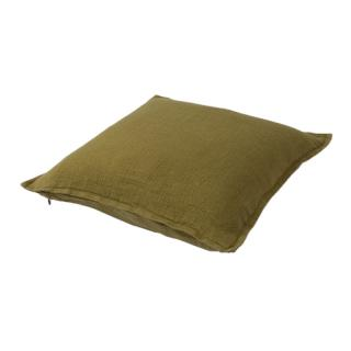 TWILL LINEN CUSHION COVER LEAF