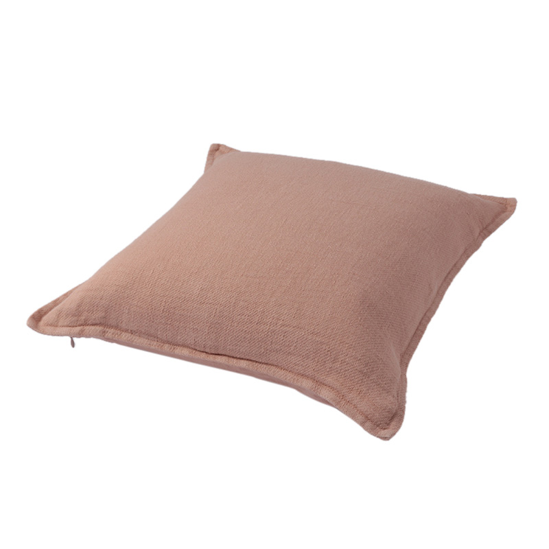 TWILL LINEN CUSHION COVER POWDER