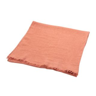 TWILL LINEN THROW COPPER