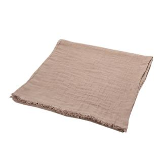 TWILL LINEN THROW MOUSE