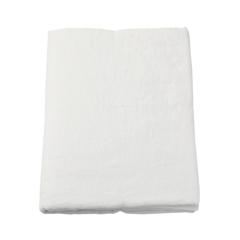 LINEN FLAT SHEET SINGLE WHITE