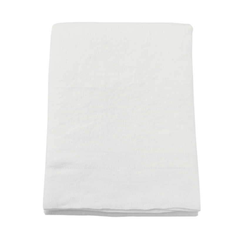LINEN PILLOWCASE WHITE