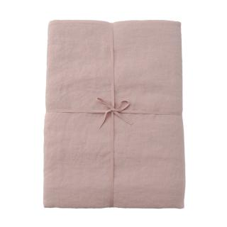 LINEN SINGLE DUVET COVER SOFT PINK