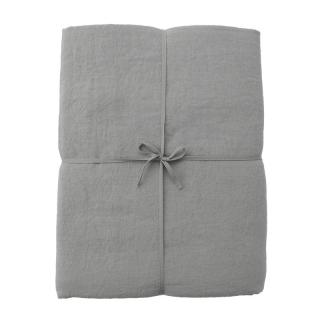 LINEN SINGLE DUVET COVER BLUE GREY