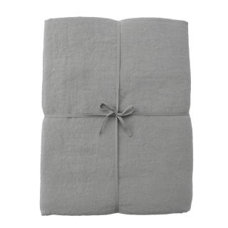 LINEN DOUBLE DUVET COVER BLUE GREY