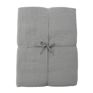 LINEN KING DUVET COVER BLUE GREY