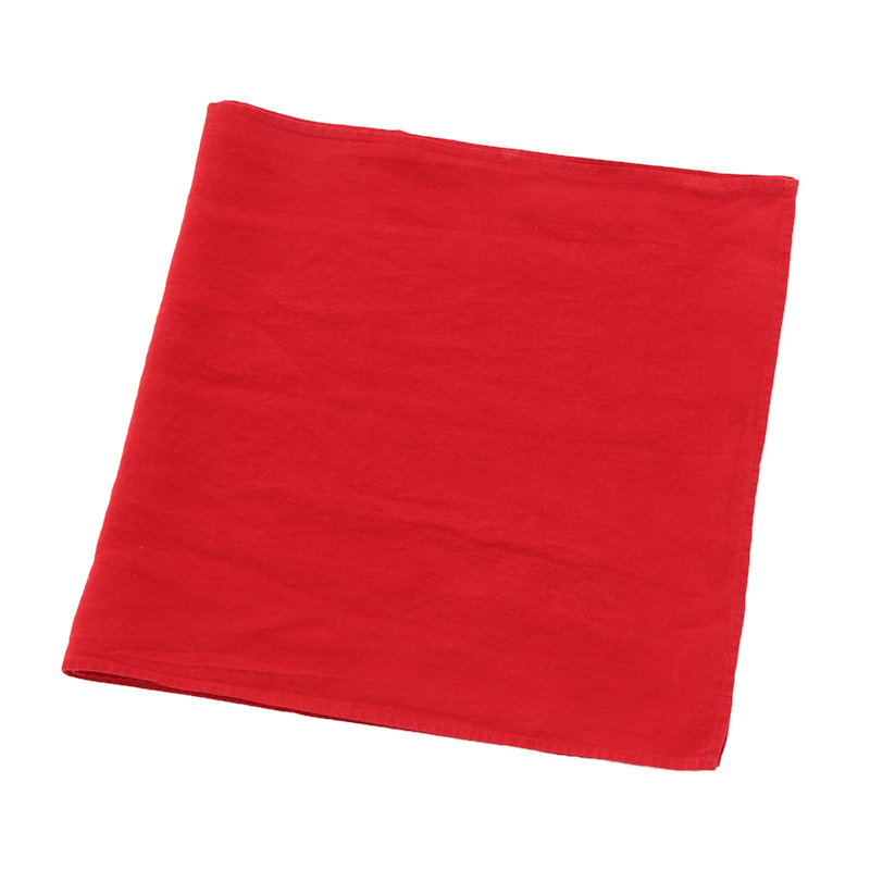 LINEN TABLE RUNNER RED