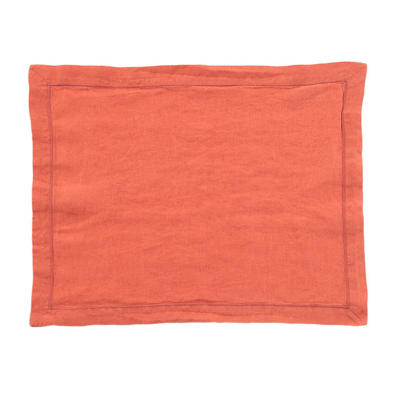 LINEN PLACEMAT BABYLOCK DARK MELON