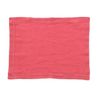 LINEN PLACEMAT BABYLOCK CORAL