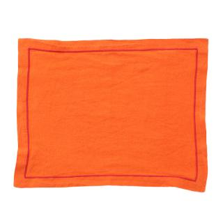 LINEN PLACEMAT BABYLOCK ORANGE / BUBBLEGUM