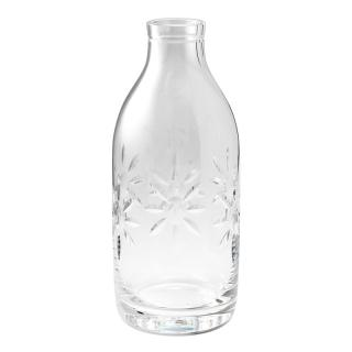 CUT CRYSTAL FLOWER MILK BOTTLE