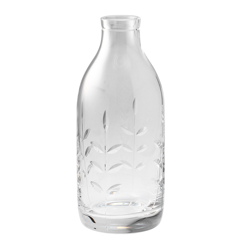 CUT CRYSTAL SPRING MILK BOTTLE