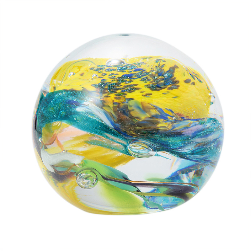 HANDMADE PAPERWEIGHT (BLUE / YELLOW)