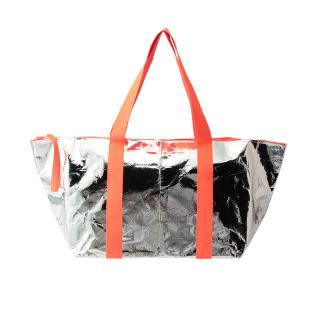 ESSENTIAL BAG XXL SILVER / ORANGE