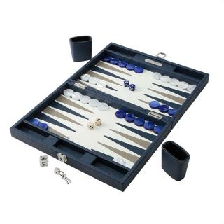 BACKGAMMON CONRAN BLUE BUFFLE