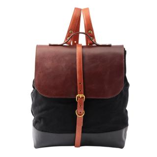 PAUL BACK PACK LEATHER CANVAS MIX