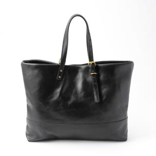 BURT DAY BAG BLACK LEATHER