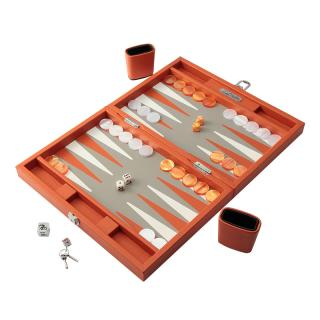 BACKGAMMON ORANGE BUFFLE