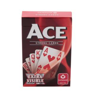 ACE EXTRA VISIBLE PLAYING CARDS  RED