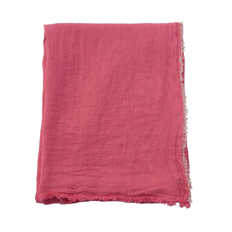 VICE VERSA LINEN THROW SHOCKING PINK