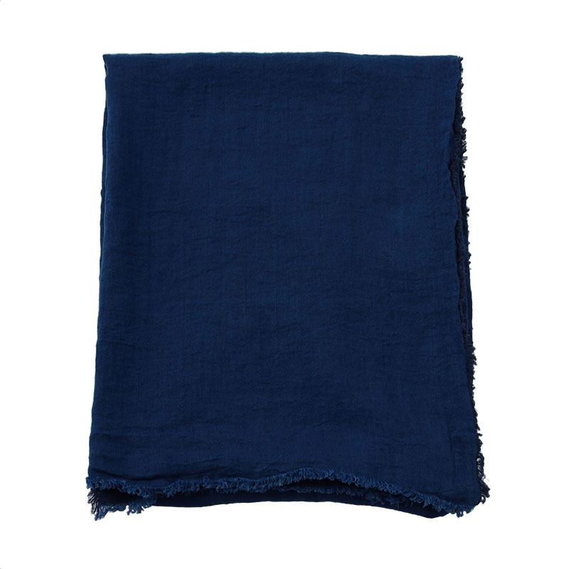 VICE VERSA LINEN THROW COBALT
