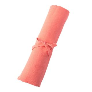 WASHED LINEN BEACH TOWEL PINK