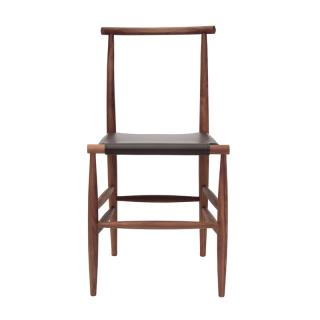 MINIFORMS PELLEOSSA CHAIR WLNT W LTHR