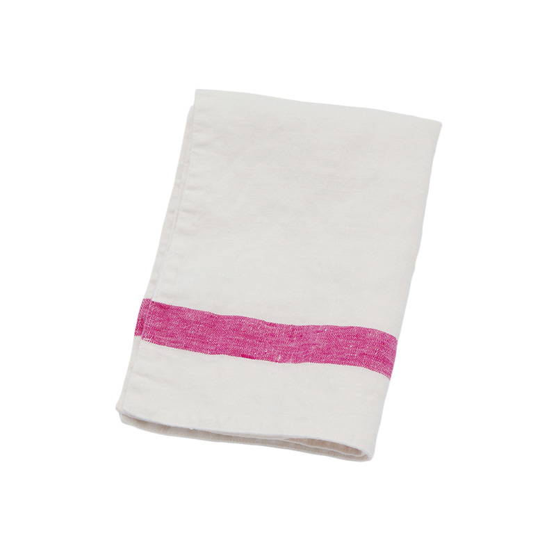 SELVEDGE STRIPE PLACEMAT WHITE / PINK