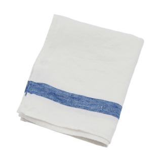 SELVEDGE STRIPE TEA TOWEL WHITE / BLUE