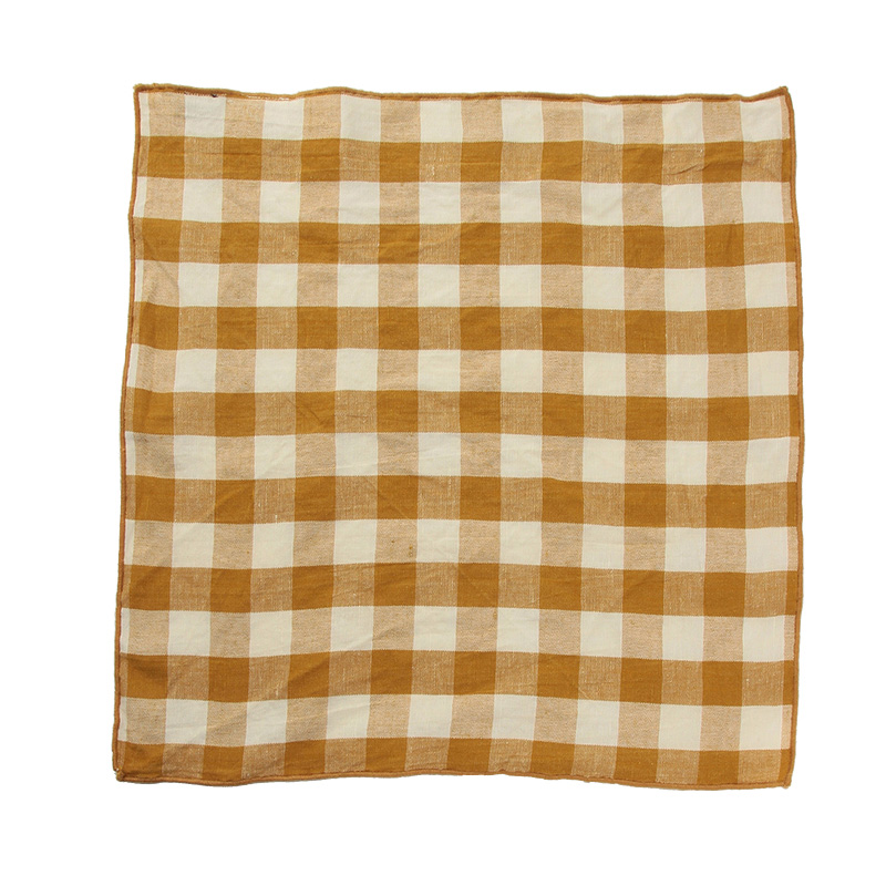 EDGED GINGHAM NAPKIN OCHRE