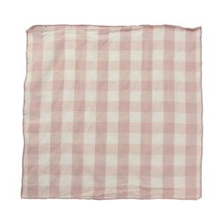 EDGED GINGHAM NAPKIN BLUSH
