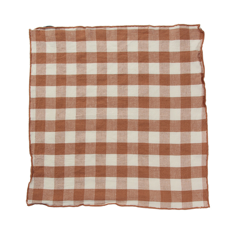 EDGED GINGHAM NAPKIN TERRACOTTA