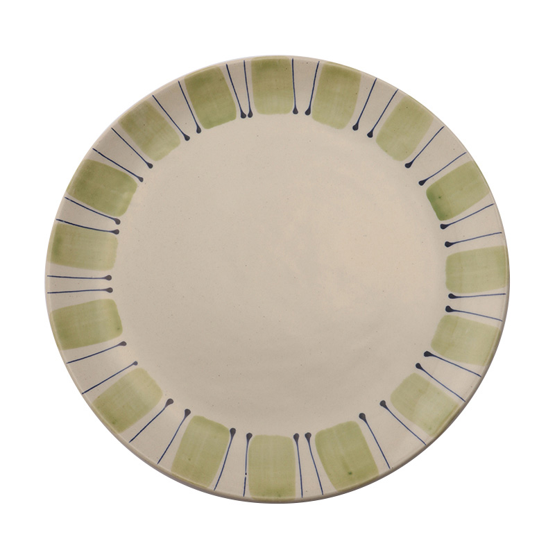 STUDIO VERTICAL STRIPE IRISH GREENBLUE DINNER PLATE
