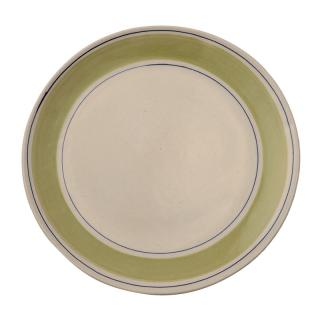 STUDIO BANDED STRIPE IRISH GREENBLUE DINNER PLATE