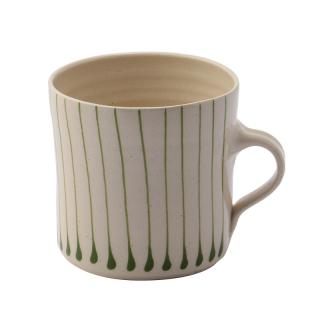 STRIPE IRISH GREEN THIN VERTICAL BREAKFAST MUG