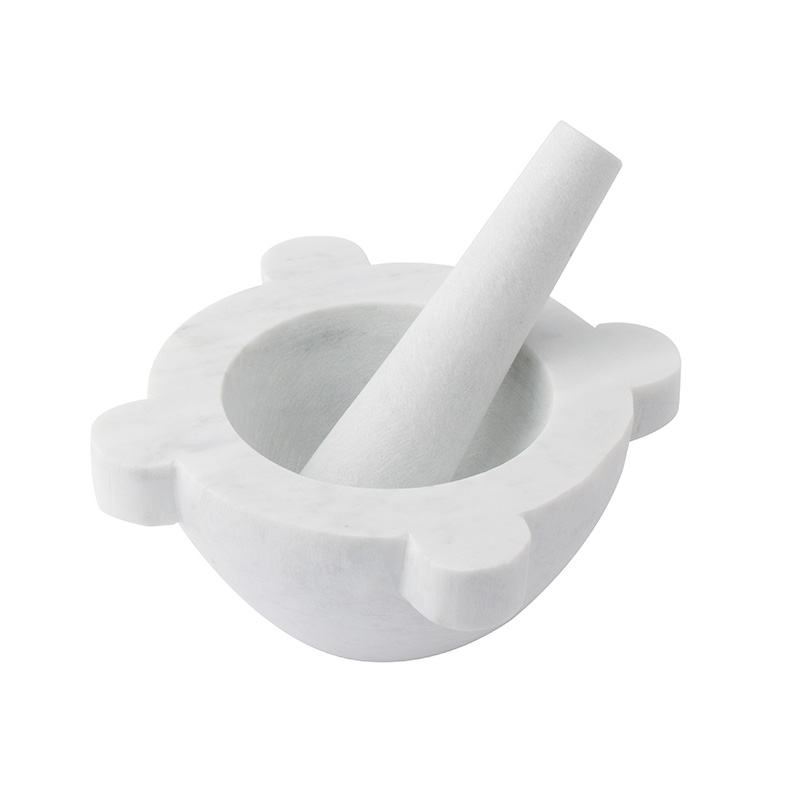 MARBLE PESTLE & MORTAR WHITE
