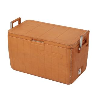 LEATHER COOLBOX NATURAL
