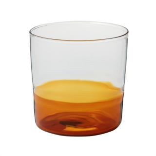 TUMBLER AMBER BOTTOM CLEAR