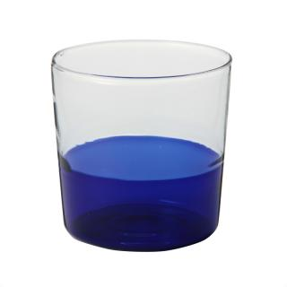 TUMBLER BLUE BOTTOM CLEAR