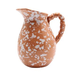 TERRACOTTA JUG WITH TWISTED HANDLE SPLAT