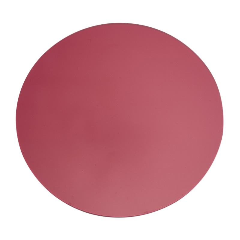 ACRYLIC ROUND PLACEMAT RED