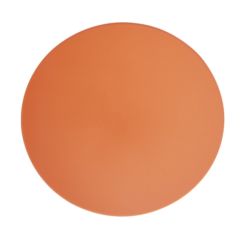 ACRYLIC ROUND PLACEMAT AMBER
