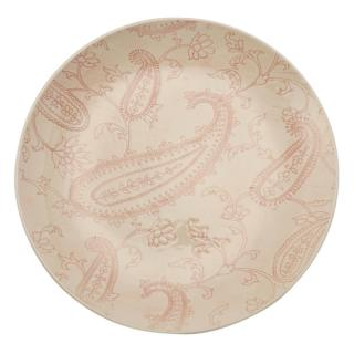 LACE MESH PINK DINNER PLATE 28CM