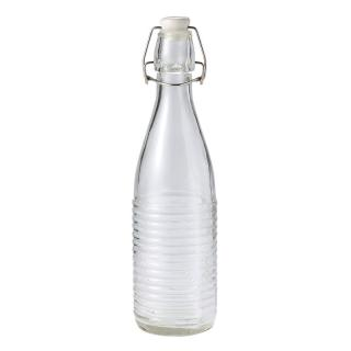GLASS BOTTLE RIBBED