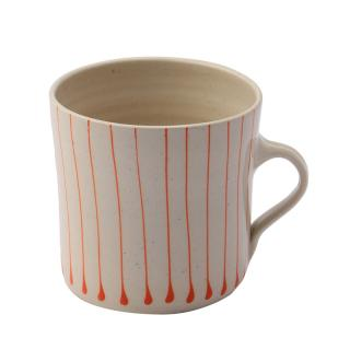 STRIPE ORANGE BREAKFAST STRAIGHT MUG