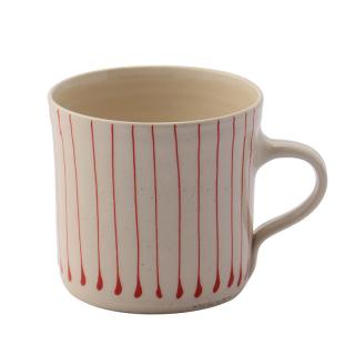 STRIPE RED BREAKFAST STRAIGHT MUG