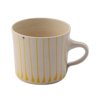 STRIPE YELLOW BREAKFAST STRAIGHT MUG