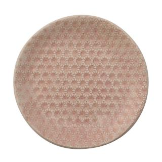 LACE STARBURST PINK SIDE PLATE